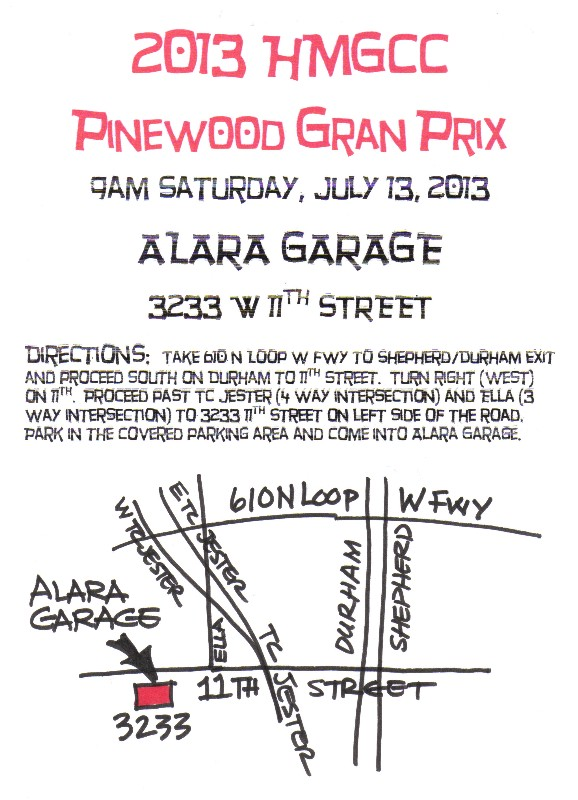Pinewood GP map