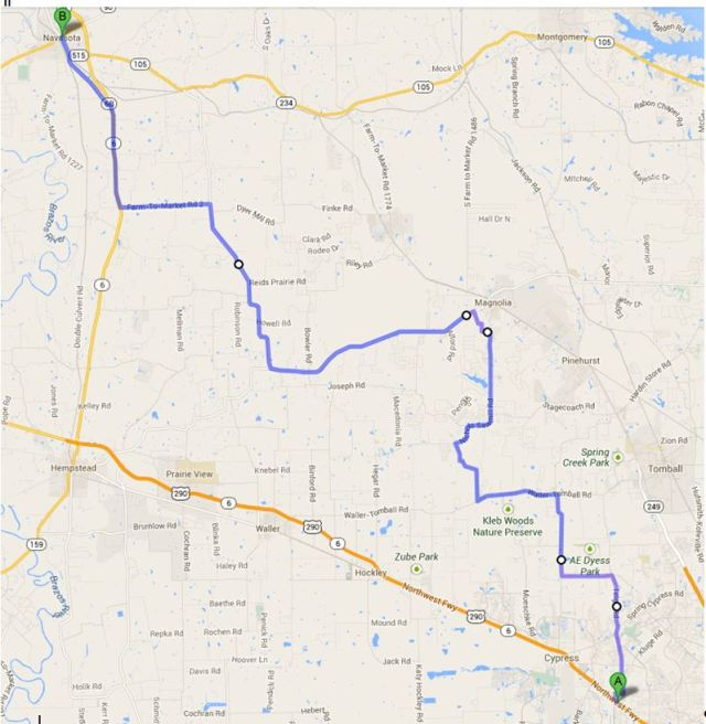 map to navasota