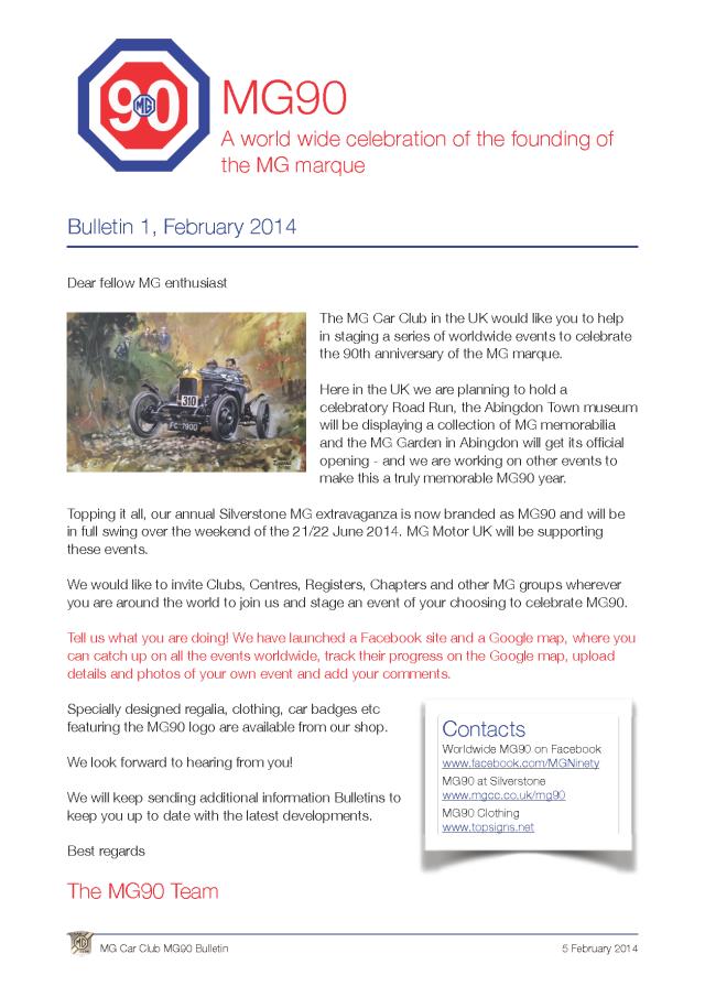 MG90 bulletin 1 v2